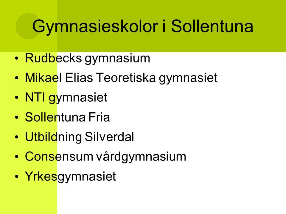 Gymnasieskolor i Sollentuna