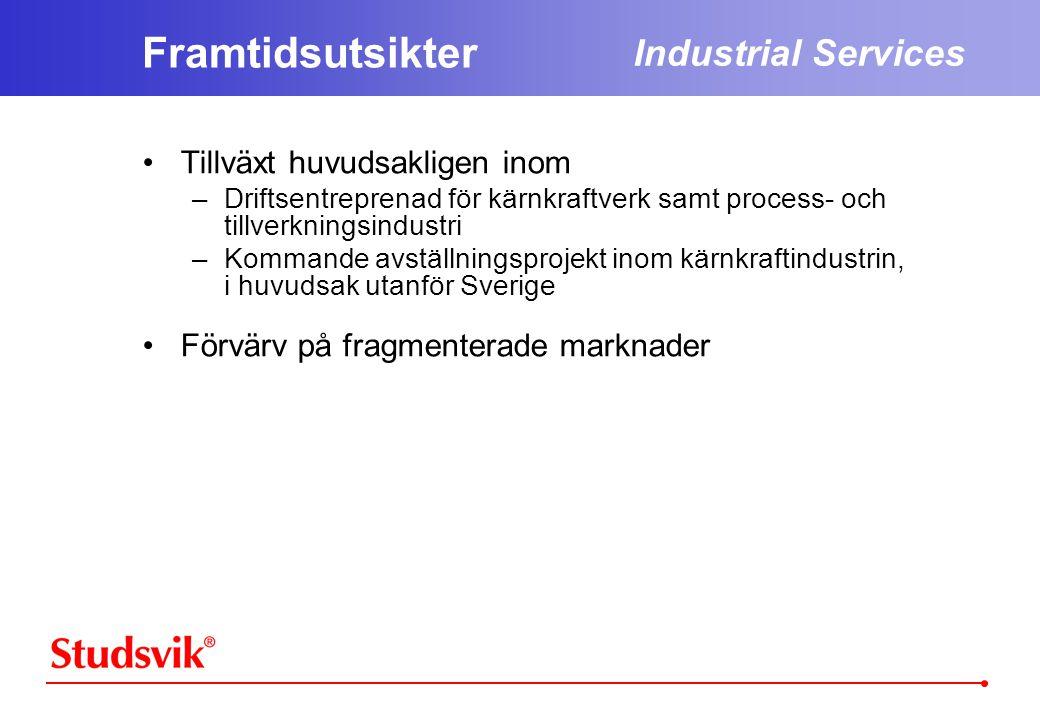 Framtidsutsikter Industrial Services Tillväxt huvudsakligen inom