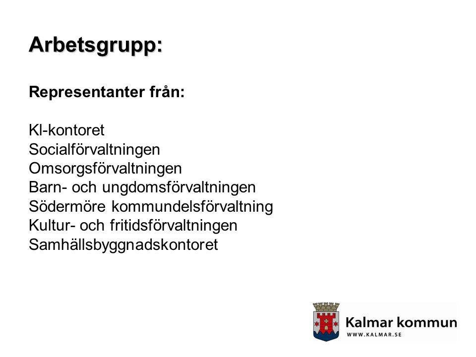 Arbetsgrupp: Representanter från: Kl-kontoret Socialförvaltningen