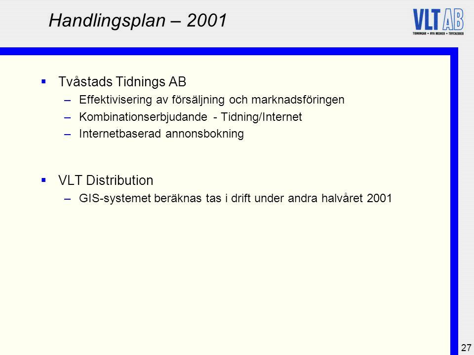 Handlingsplan – 2001 Tvåstads Tidnings AB VLT Distribution