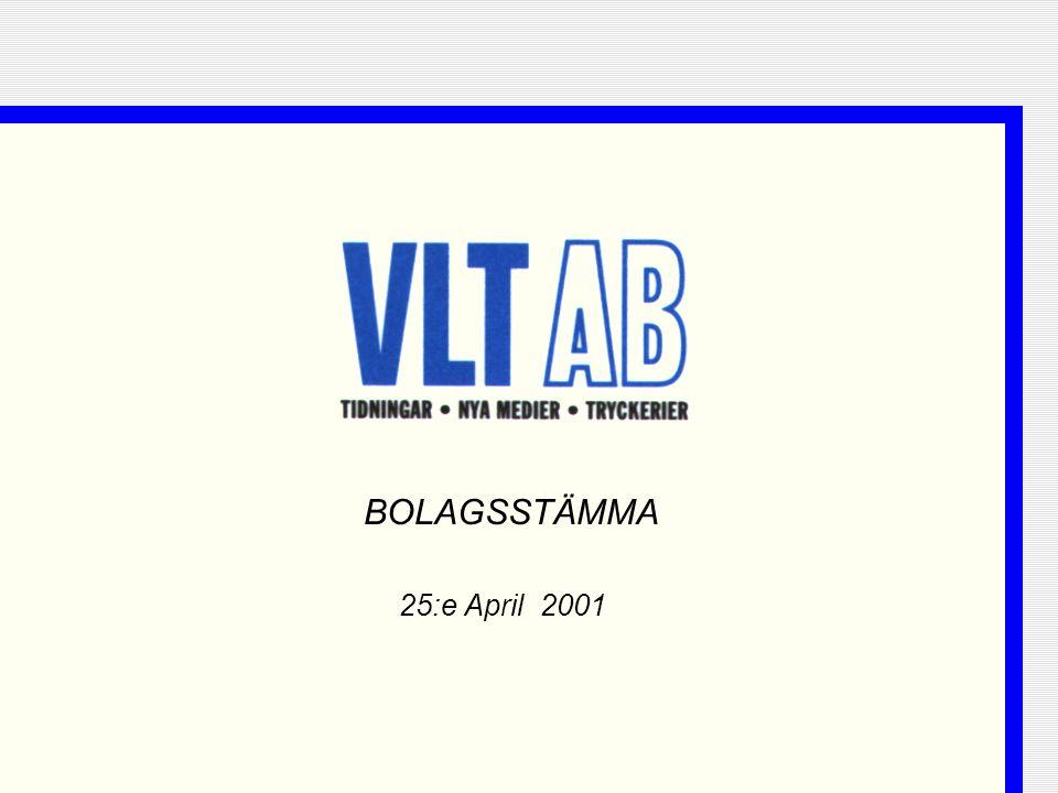 BOLAGSSTÄMMA 25:e April 2001