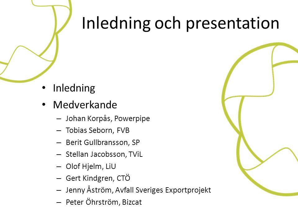 Inledning och presentation