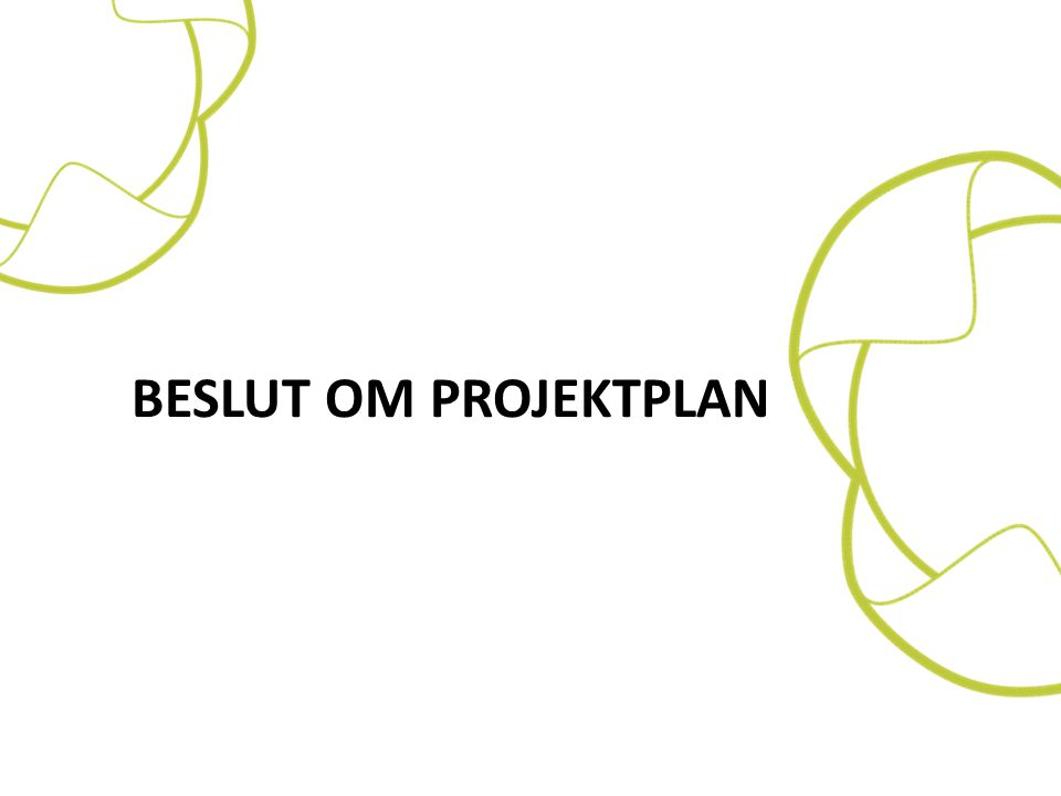 Beslut om projektplan