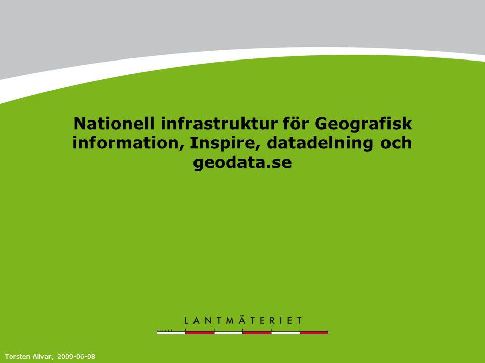 Nationell infrastruktur för Geografisk information, Inspire, datadelning och geodata.se