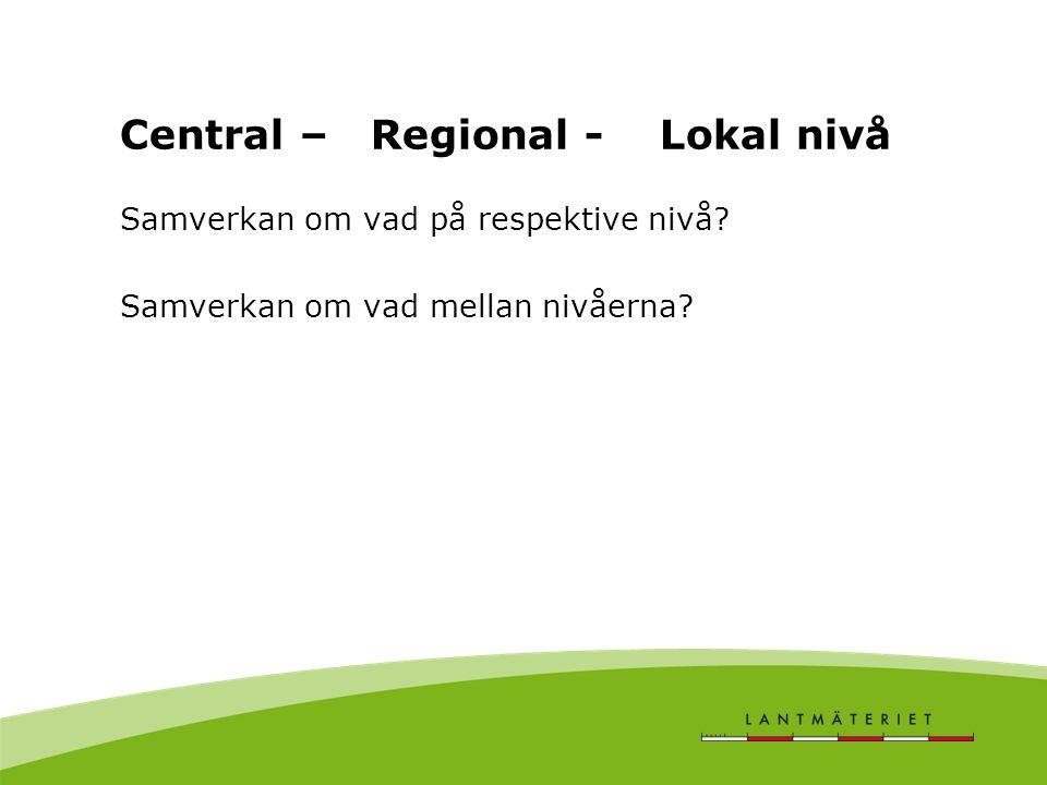 Central – Regional - Lokal nivå