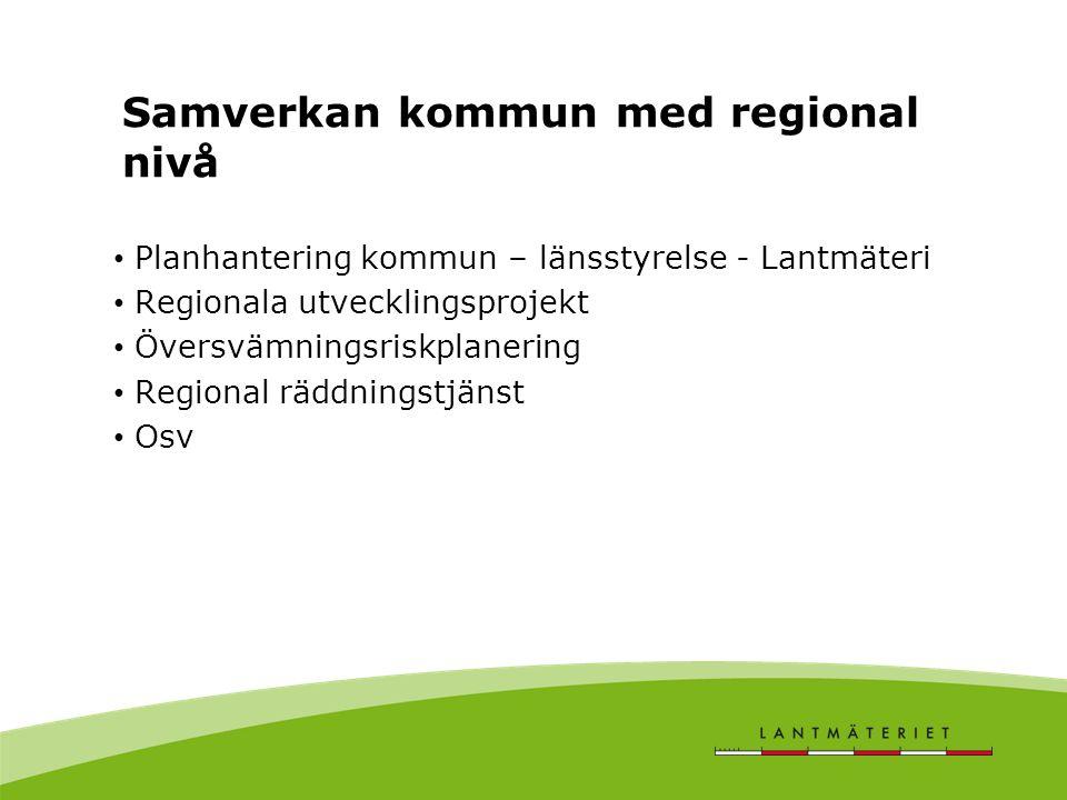 Samverkan kommun med regional nivå