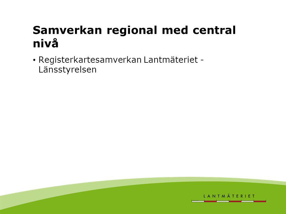 Samverkan regional med central nivå