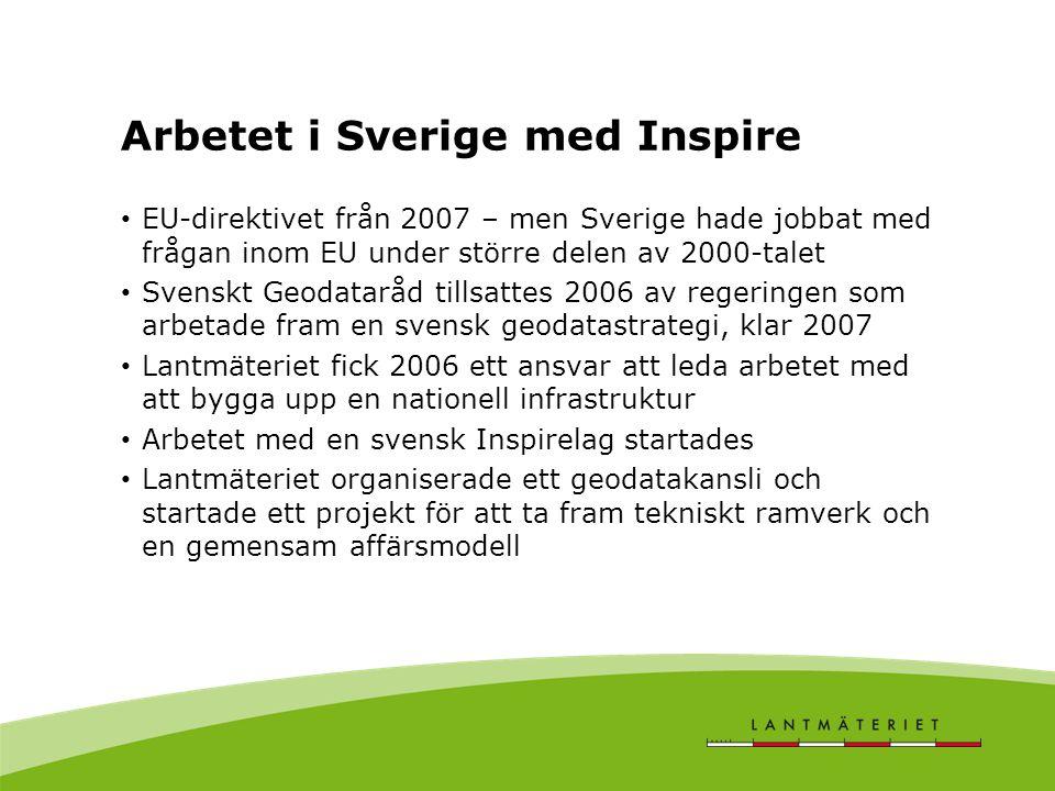 Arbetet i Sverige med Inspire