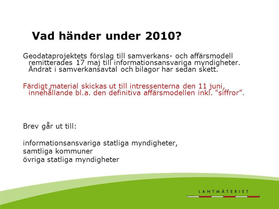 Vad händer under 2010