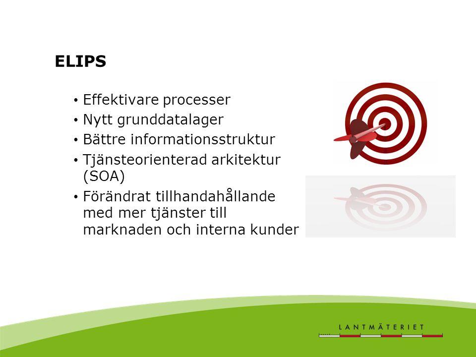 ELIPS Effektivare processer Nytt grunddatalager