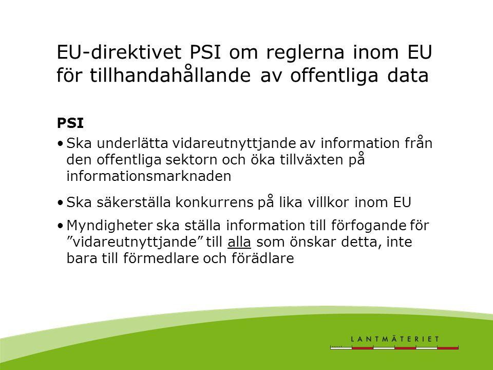 EU-direktivet PSI om reglerna inom EU för tillhandahållande av offentliga data