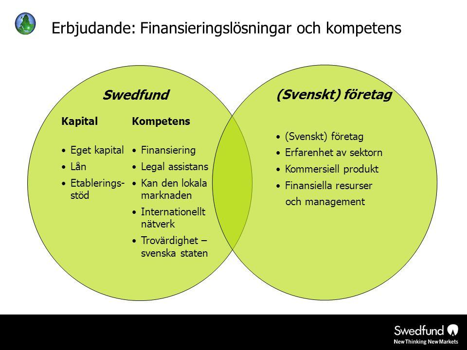 Erbjudande: Finansieringslösningar och kompetens