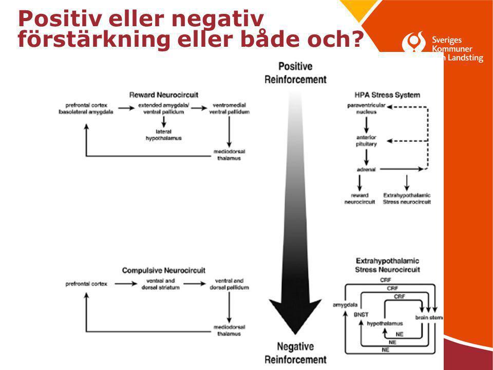 Positiv eller negativ förstärkning eller både och