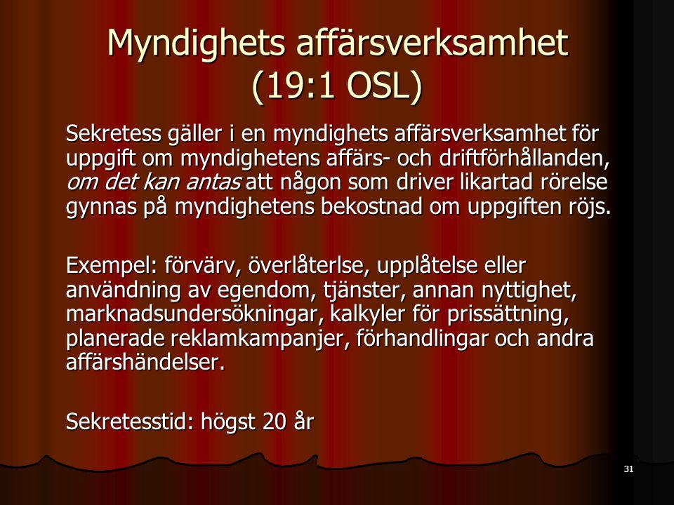 Myndighets affärsverksamhet (19:1 OSL)