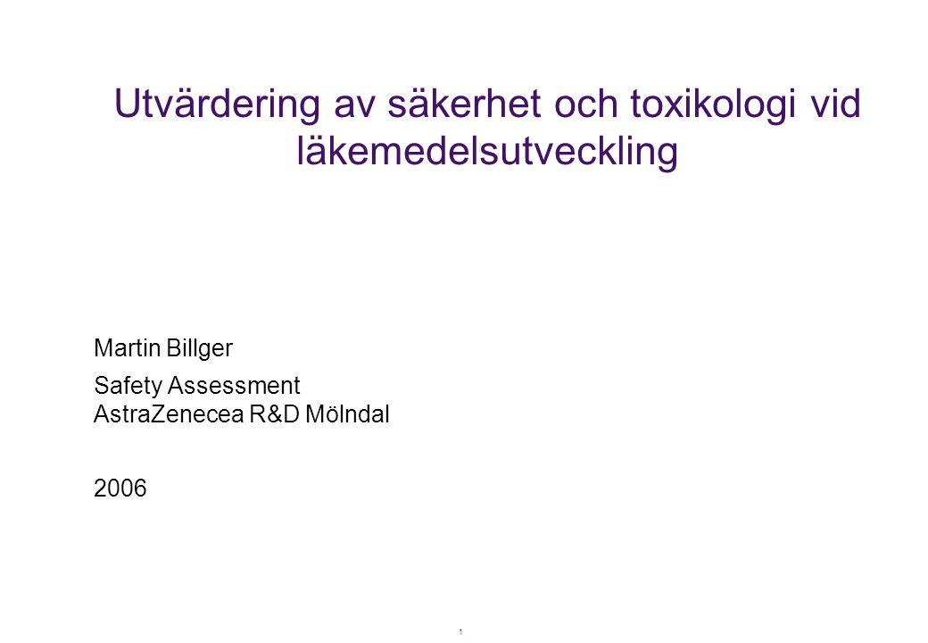 Utvärdering av säkerhet och toxikologi vid läkemedelsutveckling