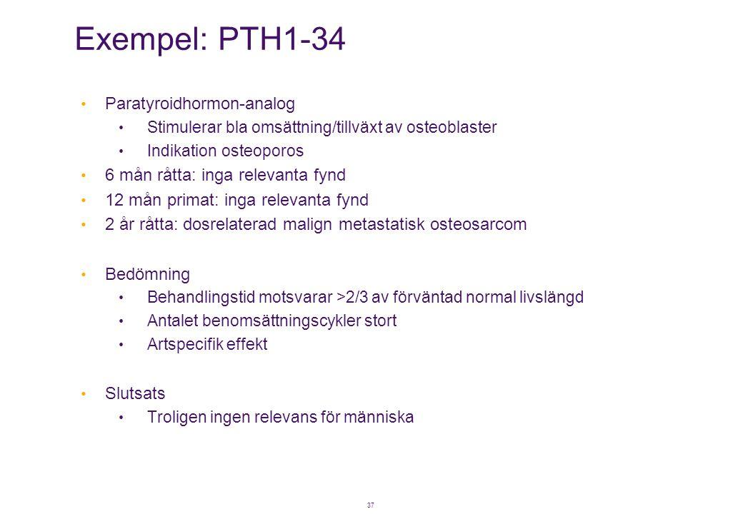 Exempel: PTH1-34 Paratyroidhormon-analog