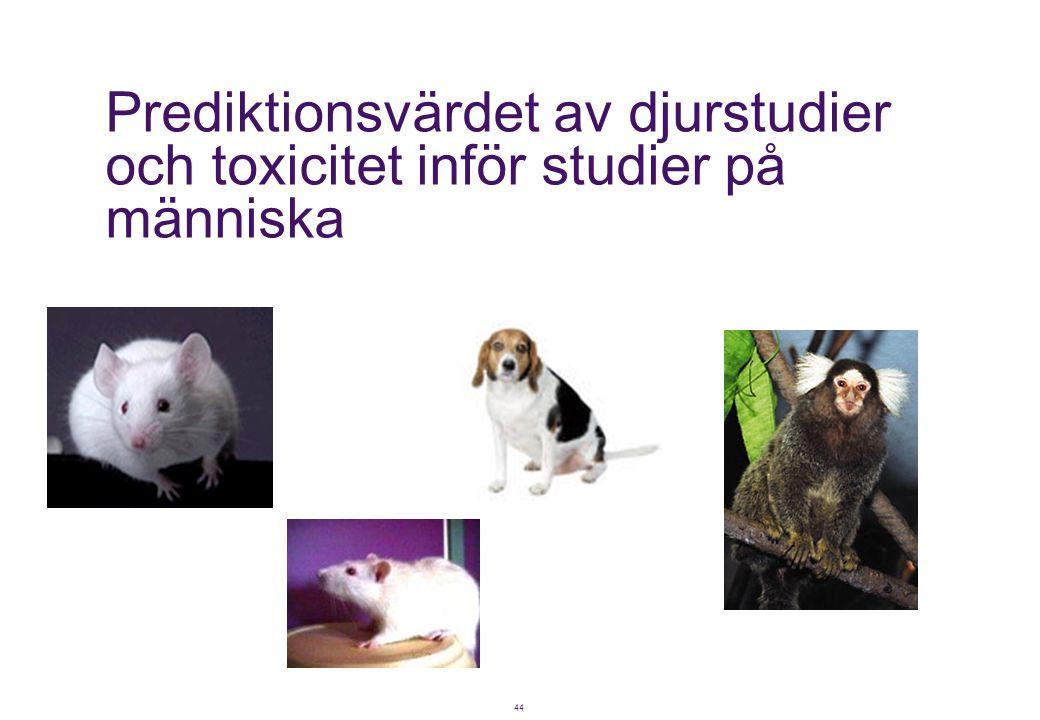 Prediktionsvärdet av djurstudier och toxicitet inför studier på människa