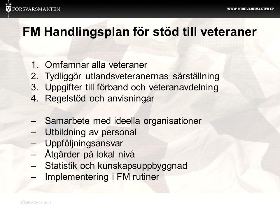 FM Handlingsplan för stöd till veteraner