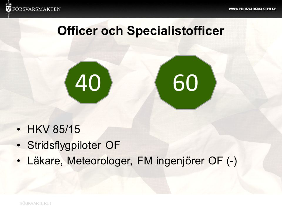 Officer och Specialistofficer