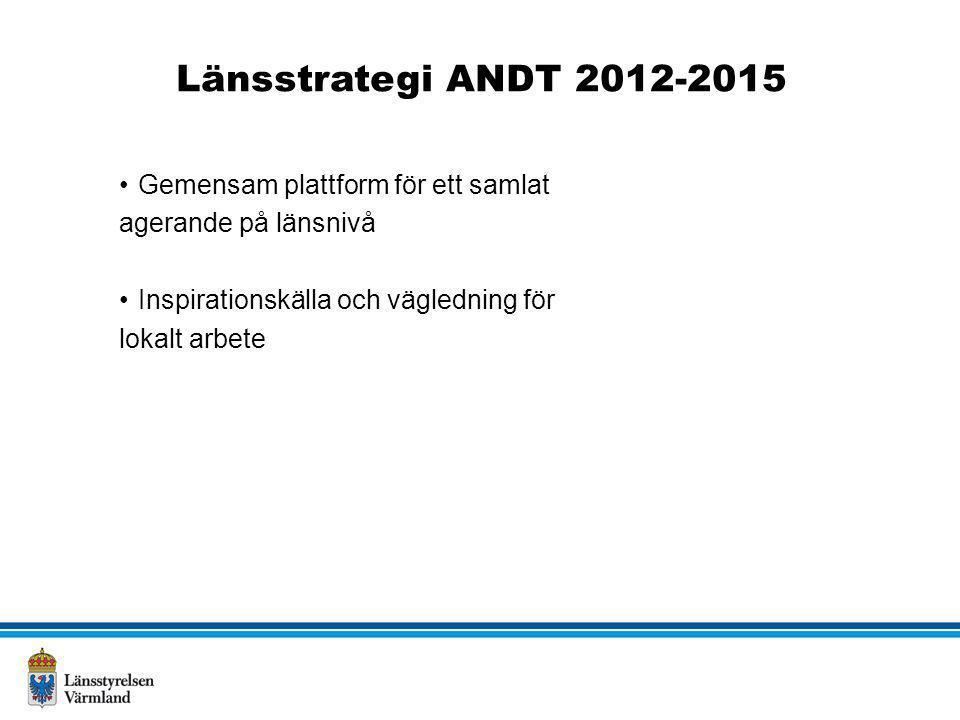 Länsstrategi ANDT 2012-2015 Gemensam plattform för ett samlat