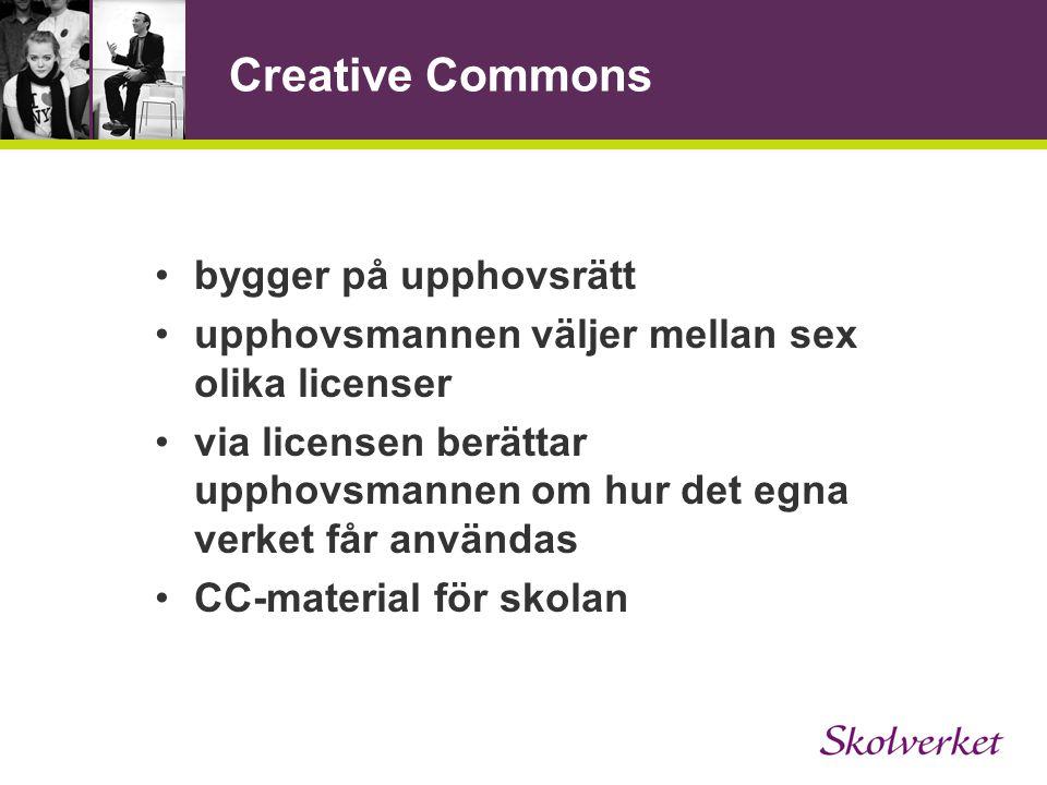 Creative Commons bygger på upphovsrätt