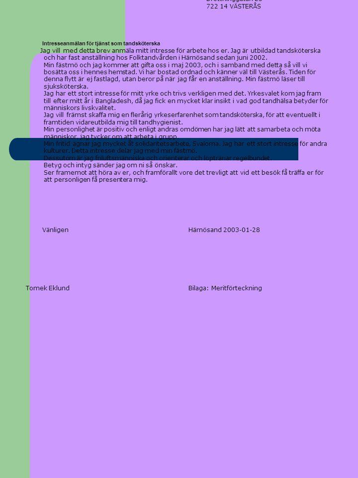 Bilaga: Meritförteckning