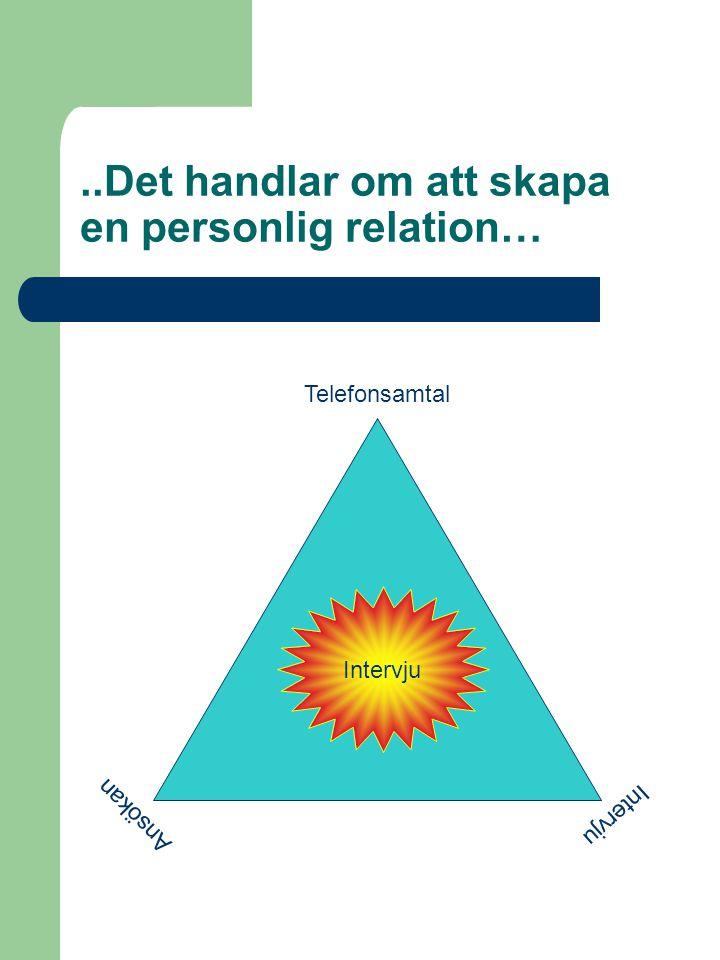 ..Det handlar om att skapa en personlig relation…