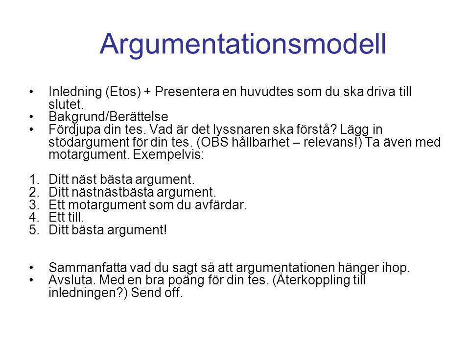 Argumentationsmodell