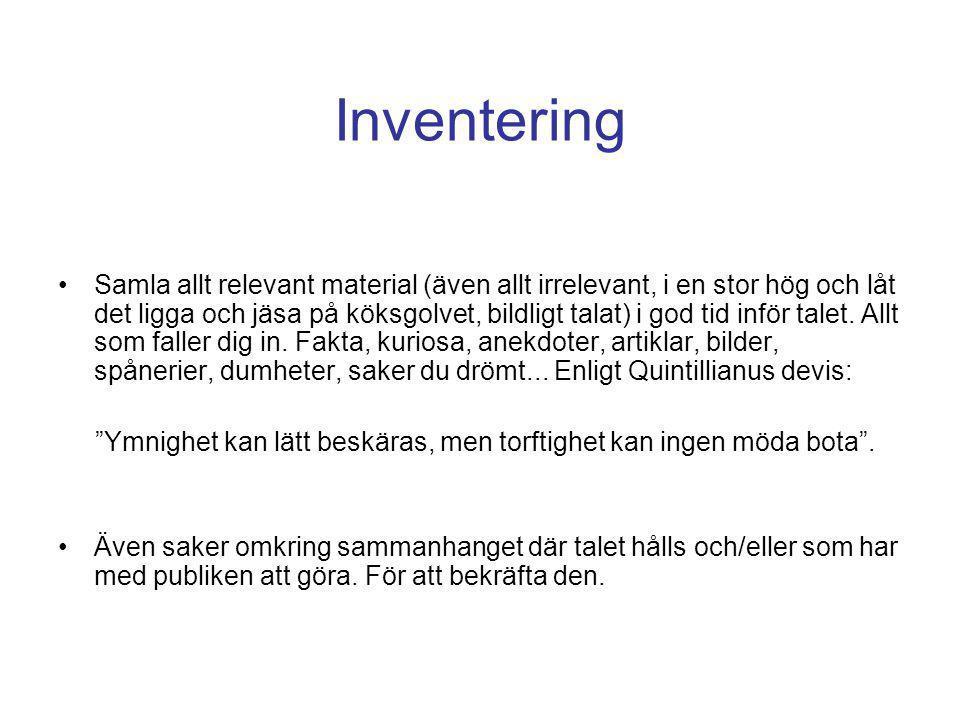 Inventering