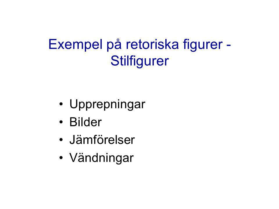 Exempel på retoriska figurer - Stilfigurer