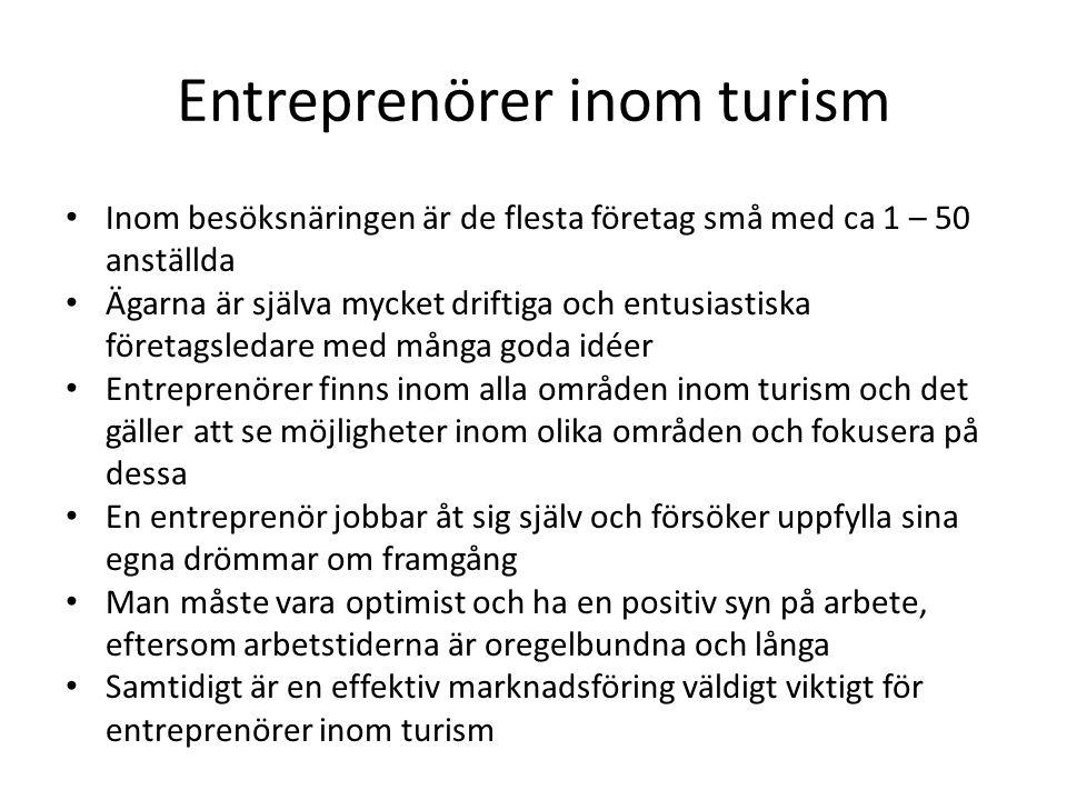 Entreprenörer inom turism