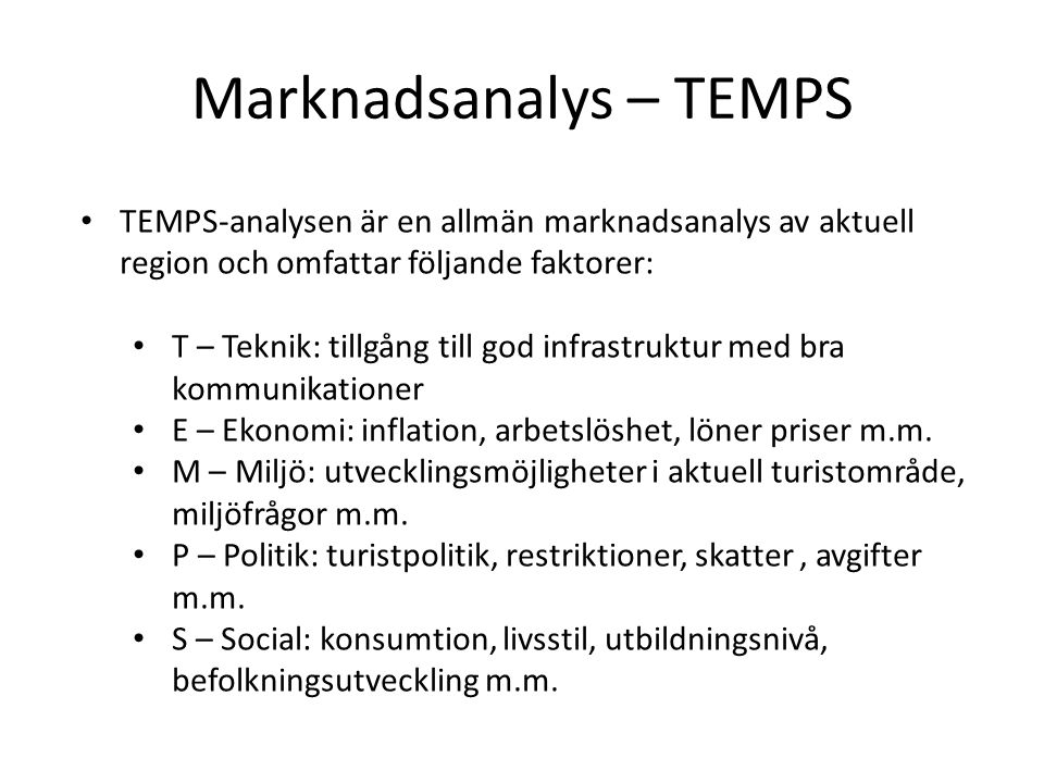 Marknadsanalys – TEMPS