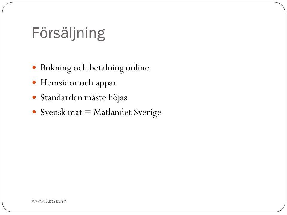 Försäljning Bokning och betalning online Hemsidor och appar