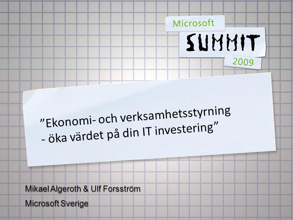 Ekonomi- och verksamhetsstyrning - öka värdet på din IT investering