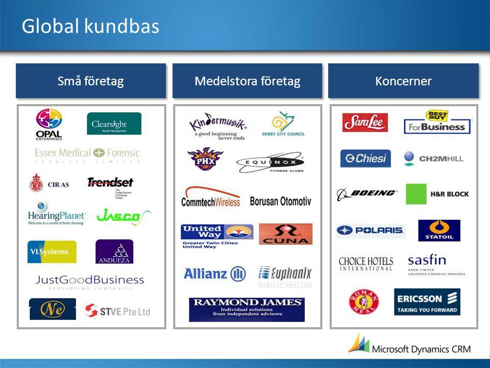 Global kundbas Små företag Medelstora företag Koncerner