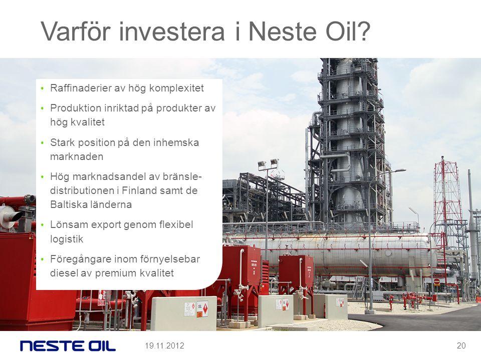 Varför investera i Neste Oil