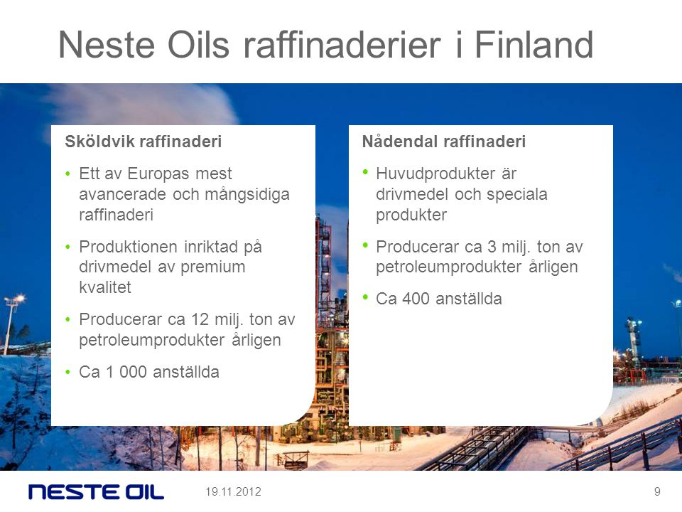 Neste Oils raffinaderier i Finland