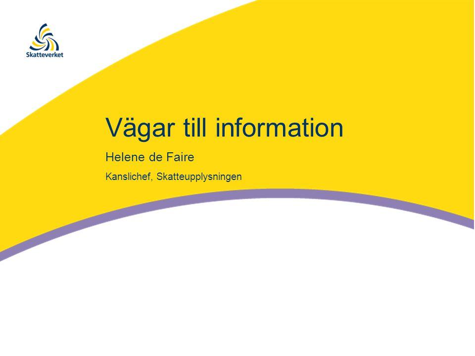 Vägar till information