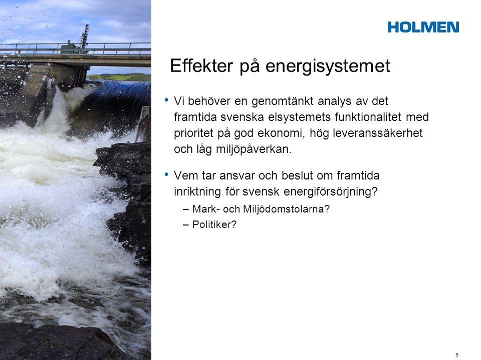 Effekter på energisystemet