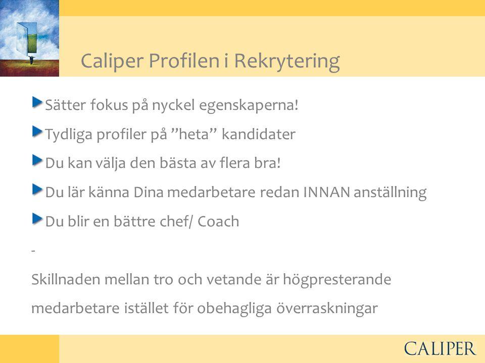 Caliper Profilen i Rekrytering