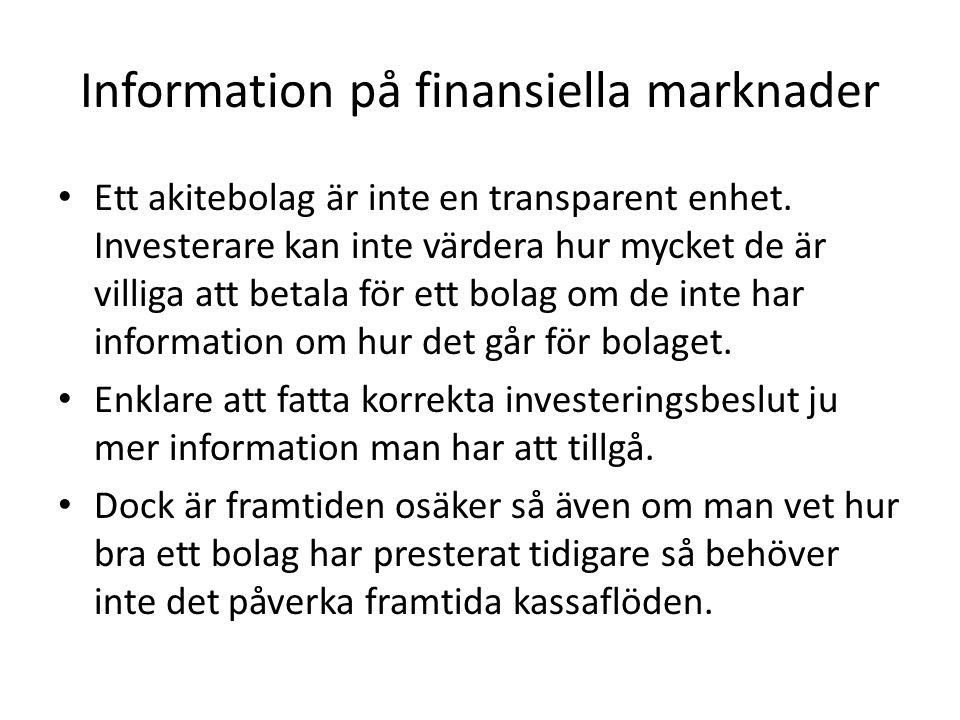 Information på finansiella marknader