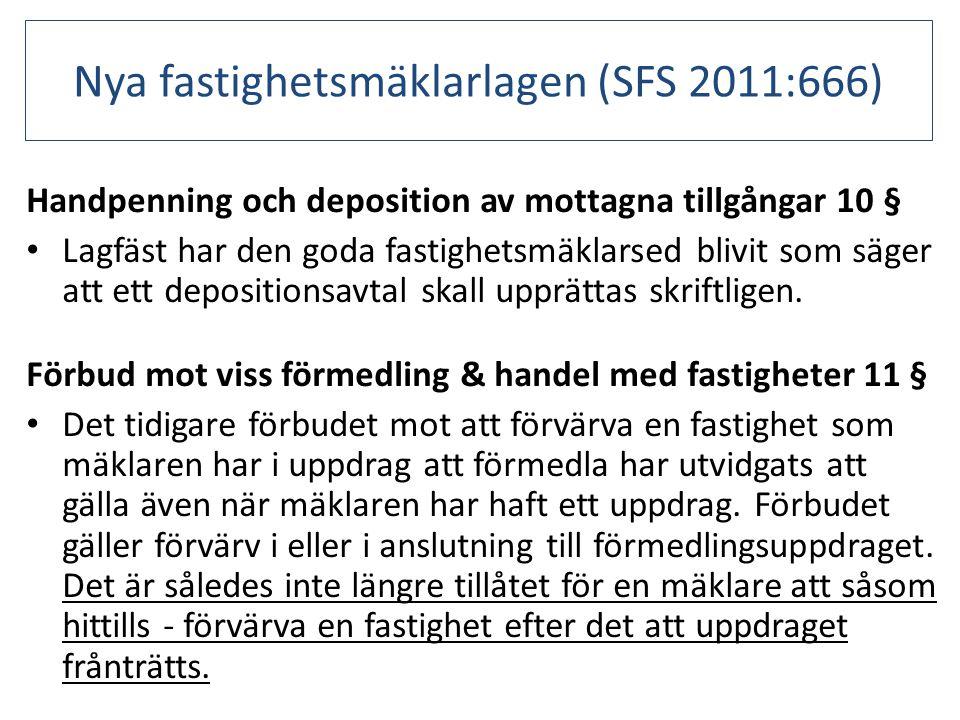Nya fastighetsmäklarlagen (SFS 2011:666)