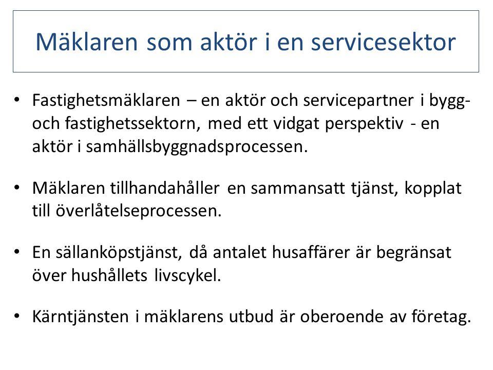 Mäklaren som aktör i en servicesektor