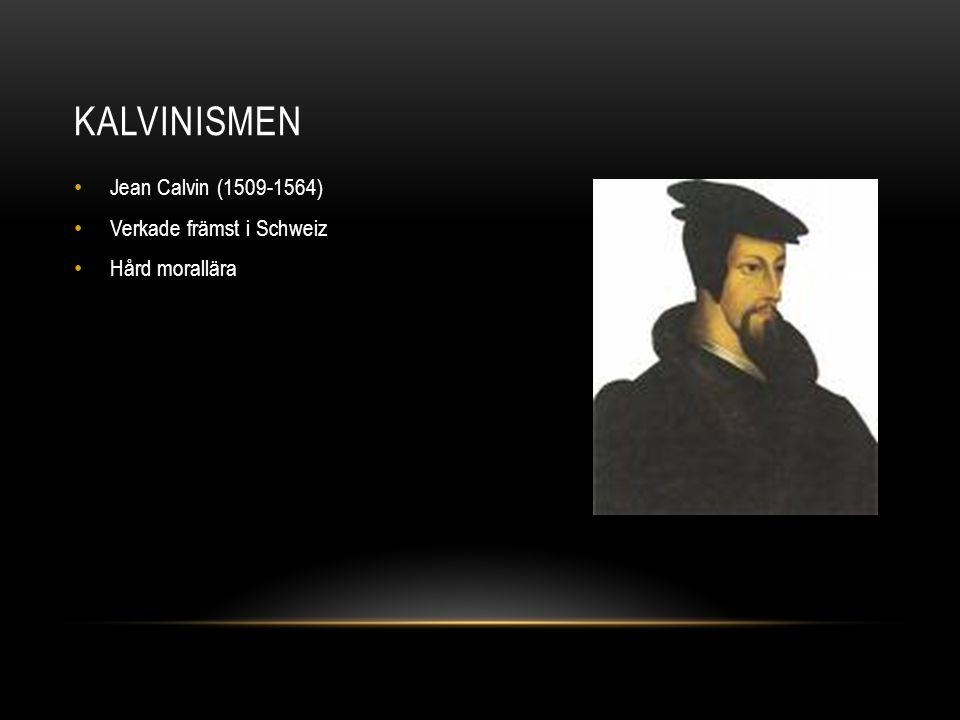 Kalvinismen Jean Calvin (1509-1564) Verkade främst i Schweiz