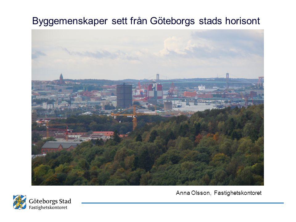 Byggemenskaper sett från Göteborgs stads horisont