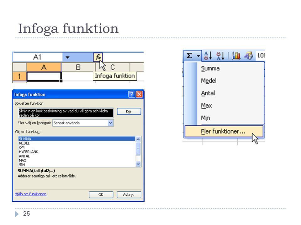 Infoga funktion