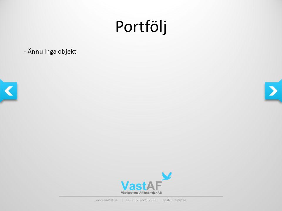 Portfölj - Ännu inga objekt