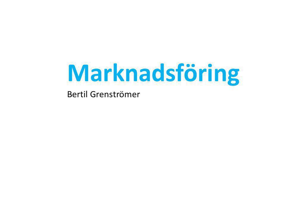 Marknadsföring Bertil Grenströmer