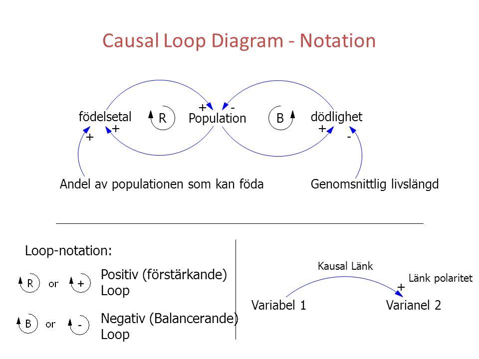 Causal Loop Diagram - Notation