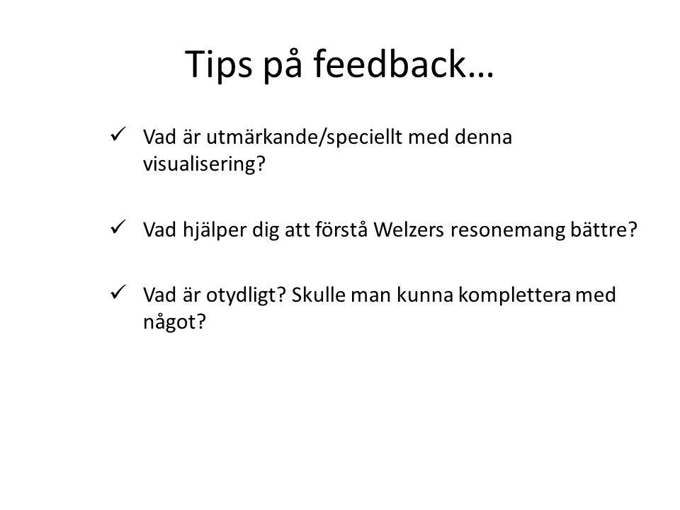 Tips på feedback… Vad är utmärkande/speciellt med denna visualisering